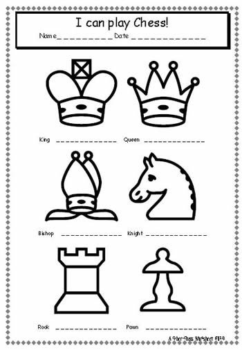 chess worksheets related keywords